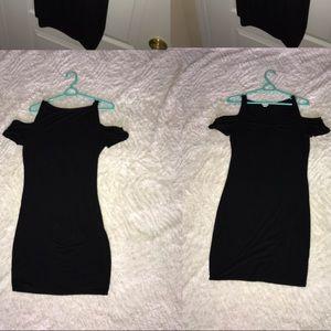 Black above the knee mini dress